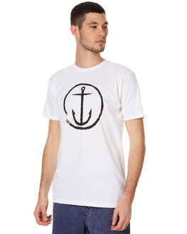 WHITE BLACK STRIPE MENS CLOTHING CAPTAIN FIN CO. TEES - CT172200WBK