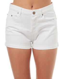 WHITE WOMENS CLOTHING ROXY SHORTS - ERJDS03144WBB0