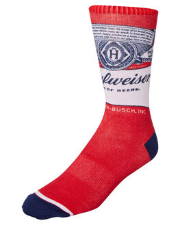 RED MENS CLOTHING HUF SOCKS + UNDERWEAR - SK00357RED