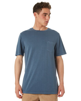 CHINA BLUE MENS CLOTHING RVCA TEES - R181066CHBLU