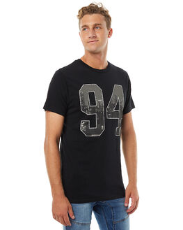 BLACK MENS CLOTHING DC SHOES TEES - UDYZT03333KVJ0