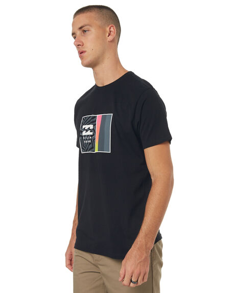 BLACK MENS CLOTHING BILLABONG TEES - 9585021BLK