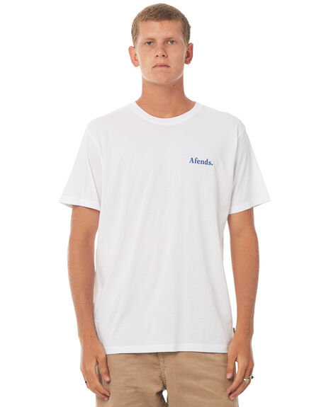 WHITE MENS CLOTHING AFENDS TEES - 01-01-277WHT