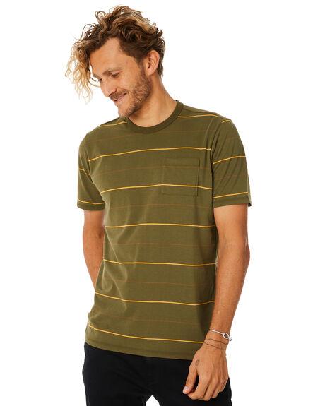 e99036e583605 Hurley Dri Fit Straya Stripe Top Mens Tee - Olive