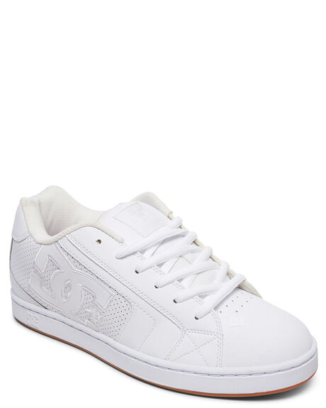 WHITE/WHITE/GUM MENS FOOTWEAR DC SHOES SNEAKERS - 302361-HWG