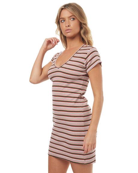 BLUSH STRIPE WOMENS CLOTHING STUSSY DRESSES - ST172514BLH