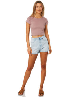 DUSTY MAUVE WOMENS CLOTHING ALL ABOUT EVE TEES - 6405048PNK