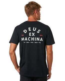 BLACK MENS CLOTHING DEUS EX MACHINA TEES - DMS81709FBLACK
