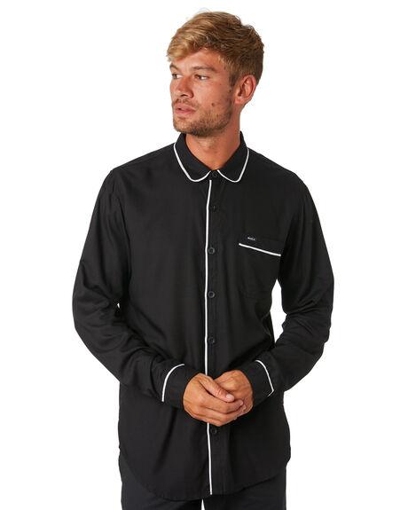 BLACK MENS CLOTHING RVCA SHIRTS - R193189BLK