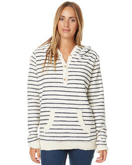 NAVY STRIPE WOMENS CLOTHING O'NEILL JUMPERS - 3721510NVYS