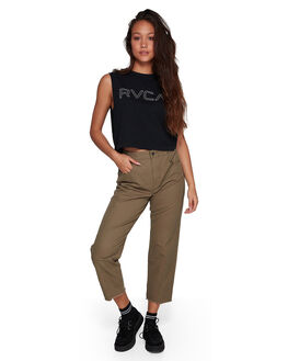 VINTAGE GREE WOMENS CLOTHING RVCA PANTS - RV-R407271-VGE