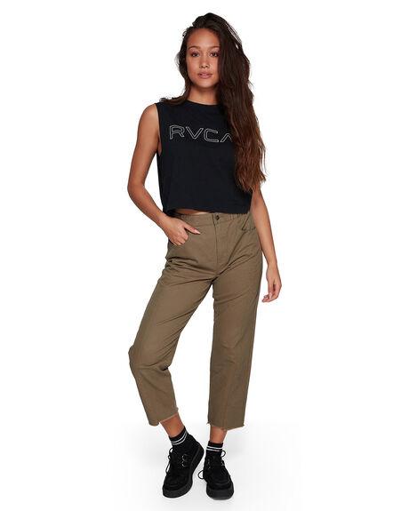 VINTAGE GREE WOMENS CLOTHING RVCA PANTS - RV-R407271-VGE