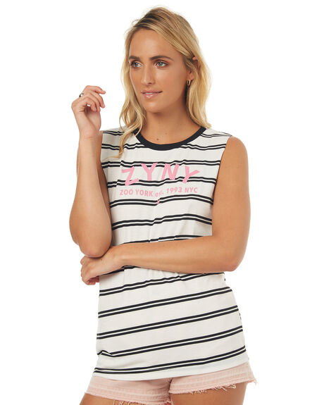 ZY STRIPE WOMENS CLOTHING ZOO YORK SINGLETS - ZY-WTD7290ZY_S