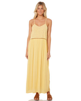 LIGHT YELLOW WOMENS CLOTHING RIP CURL DRESSES - GDRHH14094