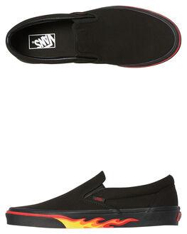 BLACK BLACK MENS FOOTWEAR VANS SLIP ONS - SSVNA38F7Q8QBLKM
