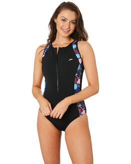 BLACK PRIME WOMENS SWIMWEAR SPEEDO ONE PIECES - 22R97-7811BKPRM