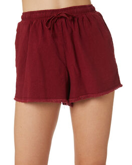RUST OUTLET WOMENS SWELL SHORTS - S8171233RUST