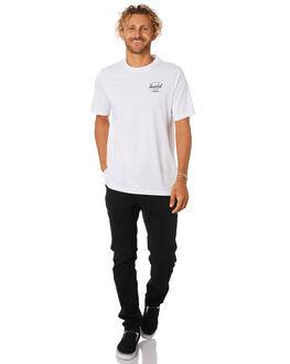 BRIGHT WHITE BLACK MENS CLOTHING HERSCHEL SUPPLY CO TEES - 50027-00256WHTBK