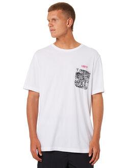 WHITE MENS CLOTHING RVCA TEES - R181048WHT