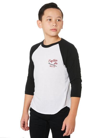 WHITE BLACK KIDS BOYS CAPTAIN FIN CO. TOPS - BT191008WBK