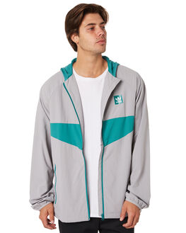 GRANITE GREEN MENS CLOTHING ADIDAS JACKETS - DU8373GRN