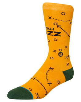 YELLOW MENS CLOTHING STANCE SOCKS + UNDERWEAR - M545A19JAZYEL