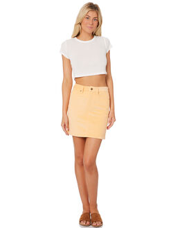 APRICOT CREAM WOMENS CLOTHING AFENDS SKIRTS - W184903APR