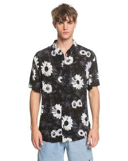 BLACK DAISY SPRAY MENS CLOTHING QUIKSILVER SHIRTS - EQYWT03958-KVJ6