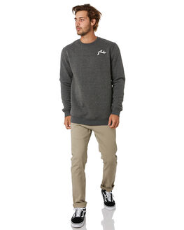 DARK GREY MARLE MENS CLOTHING RUSTY JUMPERS - FTM0917DGM