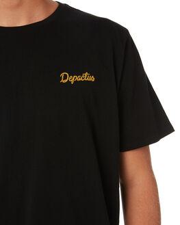 BLACK MENS CLOTHING DEPACTUS TEES - D5202003BLACK