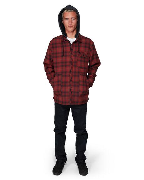 RED MENS CLOTHING BILLABONG SHIRTS - BB-9507916-RED