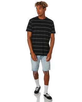 BLACK MENS CLOTHING RIP CURL TEES - CTESA20090