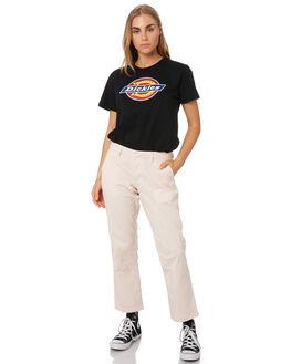 BLACK WOMENS CLOTHING DICKIES TEES - KW3190101BK
