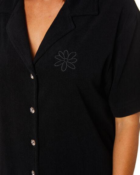 BLACK WOMENS CLOTHING MISFIT FASHION TOPS - MT102404BLK