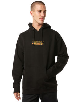 BLACK MENS CLOTHING PASS PORT JUMPERS - R23INTHOODBLK