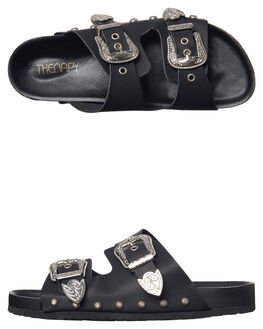BLACK WOMENS FOOTWEAR THERAPY FASHION SANDALS - CT203-13BLK