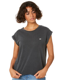 WASHED GREY WOMENS CLOTHING LEE TEES - L-651148-AG3