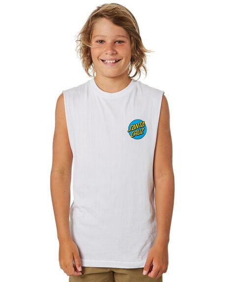 WHITE KIDS BOYS SANTA CRUZ TOPS - SC-YTA9164WHT