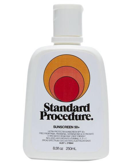 WHITE HOME + BODY BODY STANDARD PROCEDURE SKINCARE - SPSPF50250WHT