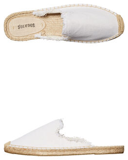 WHITE WOMENS FOOTWEAR SOLUDOS FLATS - 1000206100