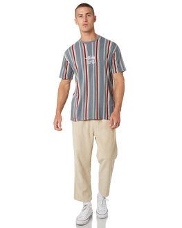 GREY MENS CLOTHING STUSSY TEES - ST095120GRYML