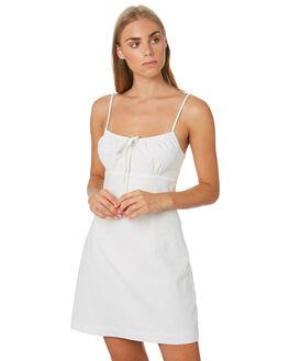 WHITE WOMENS CLOTHING LULU AND ROSE DRESSES - LU23892WHT