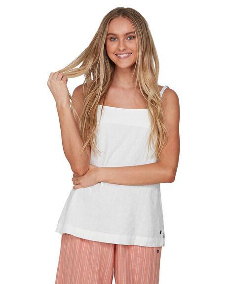 BRIGHT WHITE WOMENS CLOTHING ROXY FASHION TOPS - URJWT03032-WBB0