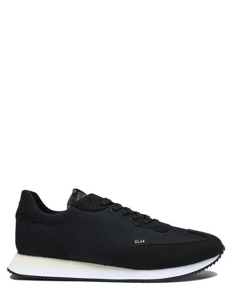 BLACK WHITE MENS FOOTWEAR CLAE SNEAKERS - CL20CRU03BVS