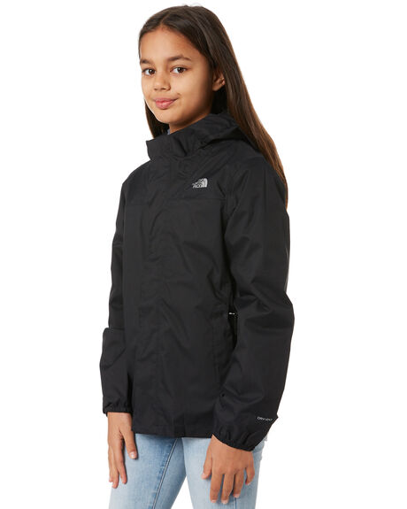 BLACK KIDS GIRLS THE NORTH FACE JUMPERS + JACKETS - NF0A3NHSJK3BLK
