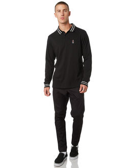 PIRATE BLACK MENS CLOTHING RVCA SHIRTS - R393701PRBLK