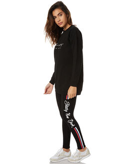 BLACK WOMENS CLOTHING STUSSY ACTIVEWEAR - ST176607BLK