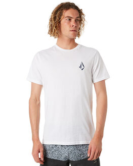 WHITE COMBO MENS CLOTHING VOLCOM TEES - A5041772WTC