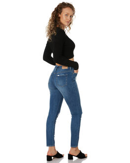 TRINITY BLUE WOMENS CLOTHING RIDERS BY LEE JEANS - R-551588-KN0
