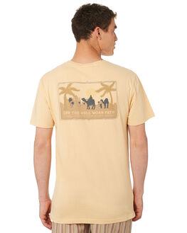 DUSTY PEACH MENS CLOTHING RHYTHM TEES - OCT18M-PT08-PEA